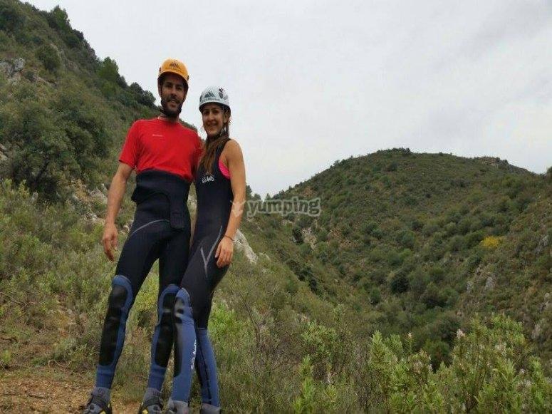 在峡谷降落之前