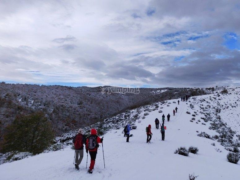 Ruta de raquetas de nieve por Valdezcaray