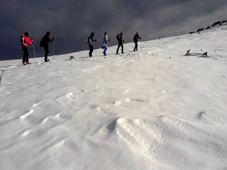Excursión raquetas de nieve Valdezcaray