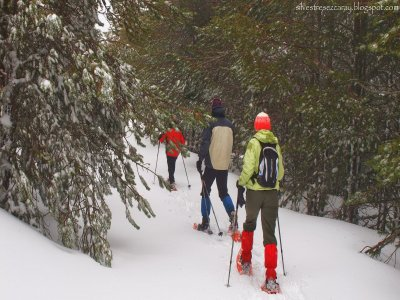 雪鞋行走路线 Valdezcaray 和材料 3-4h