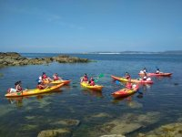 Kayak route on Arosa island