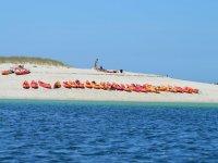 Kayaks in Illa de Arousa
