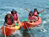 Departure in kayak with the kids