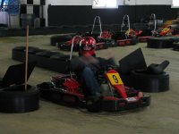 Inside the karting circuit