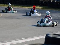 Piloting karts with helmet