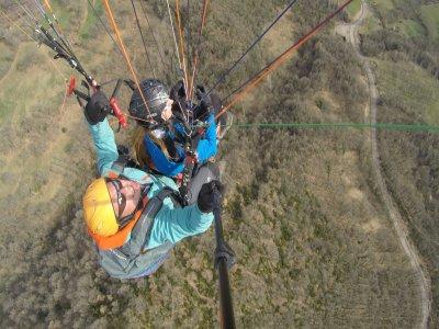 双座滑翔伞飞行La Muela的洗礼