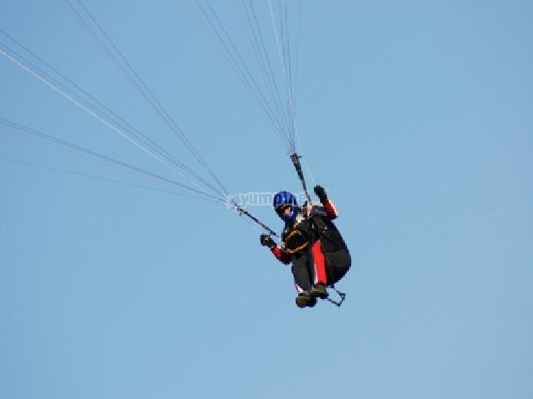 vuelo instructor parapente