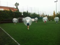 Attacking the goal in bubbles