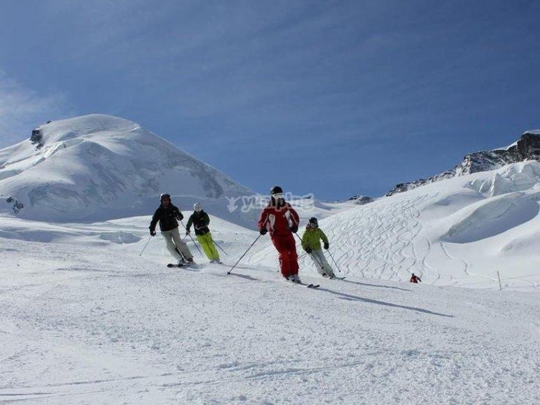 Clases de esqui iniciación