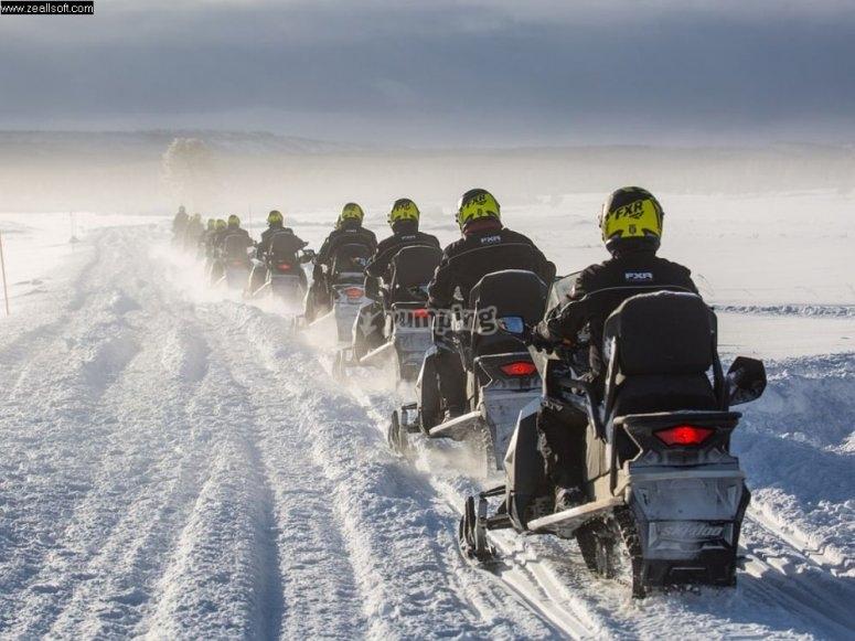 de ruta por la nieve