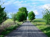 四边形土地的道路或雪四轮摩托