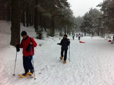 在Canencia的雪鞋生态路线
