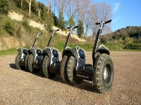 Segways prepared for the route