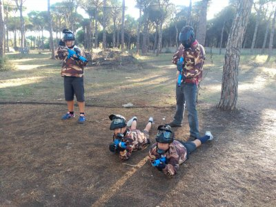 Children Paintball in Chiclana with 200 balls