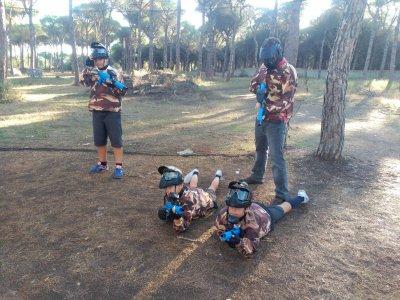 Paintball especial niños en Chiclana con 200 bolas