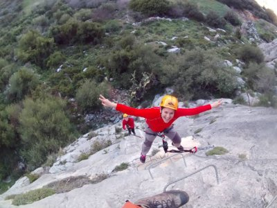Via Ferrata in Montejaque medium-high level 4h
