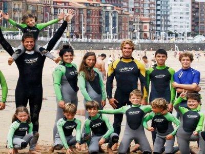 Surf camping, Gijón, Weekends