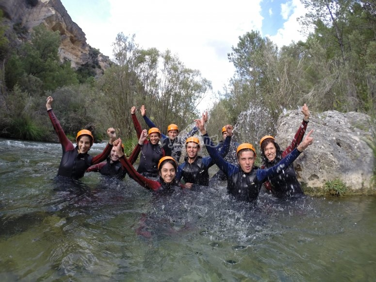 Starting the canyoning