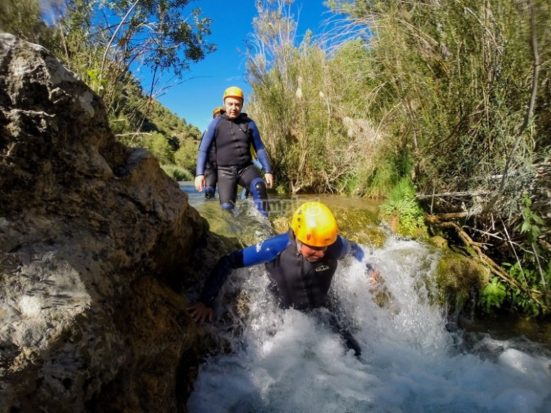 Starting the canyoning trip