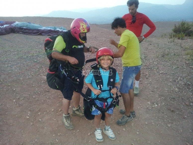Preparing the paraglide