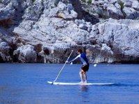 Wide SUP paddling