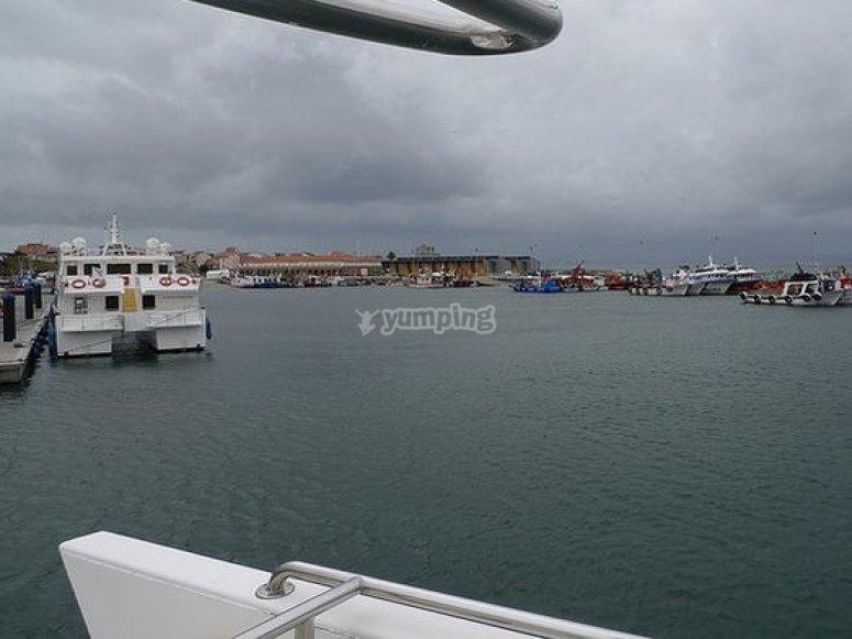 vista desde barco