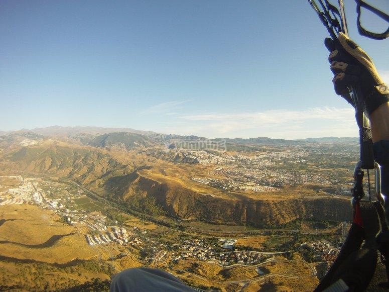Valle de Cenes desde el aire