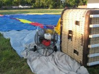 Montaje para vuelo en globo