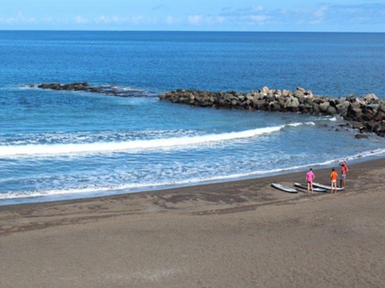 orilla de la playa