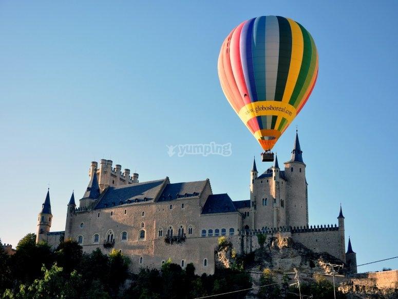Hot-air balloon ride in Segovia