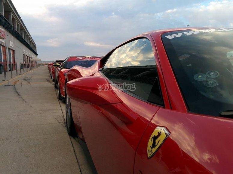 Ferrari team