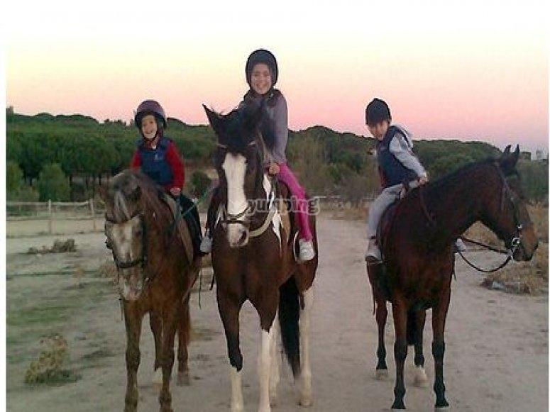 I tre a cavallo