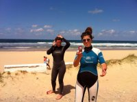 Taking pictures with the wetsuit