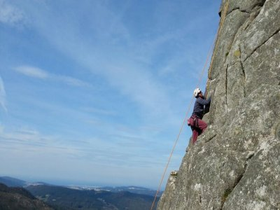 Rock climbing course for beginners Coruña