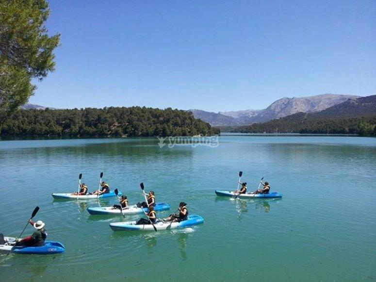 Kayaks group