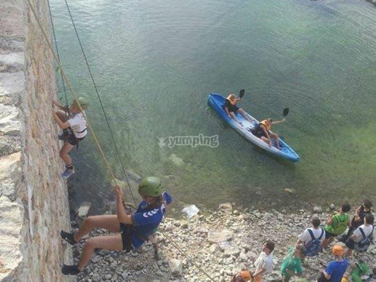 Multi-adventure with kayak