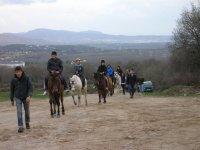 Con los caballos