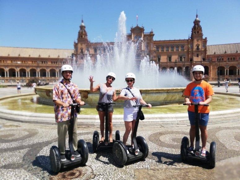 Ruta segway Sevilla Plaza de España