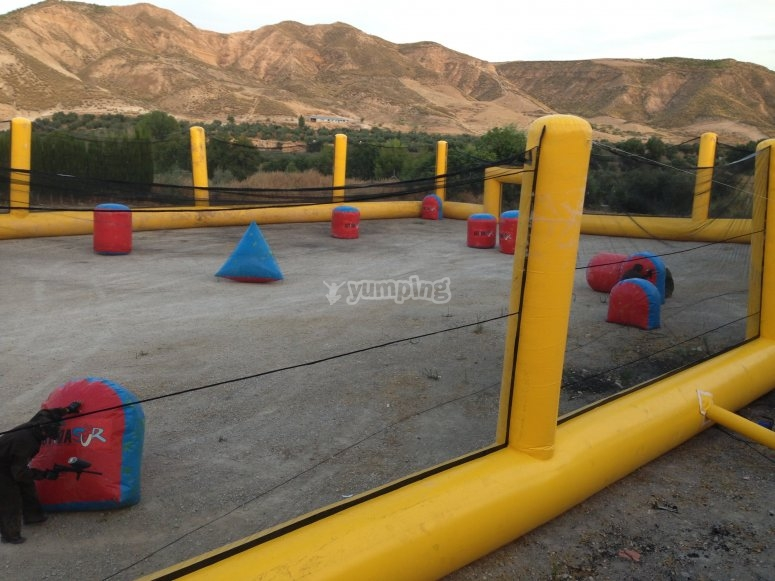 Campo paintball alquiler