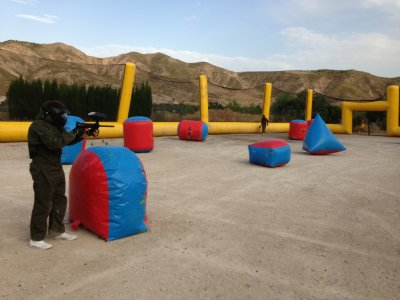Portable paintball field renting