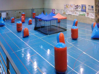 Renting portable paintball indoor