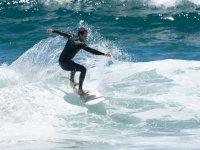 Practice turns on the surfboard