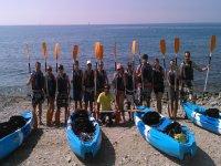 在La Herradura海滩上的皮划艇路线