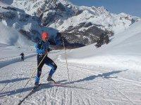 内华达山脉的越野滑雪课程