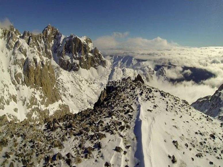 滑雪道坎塔布里亚