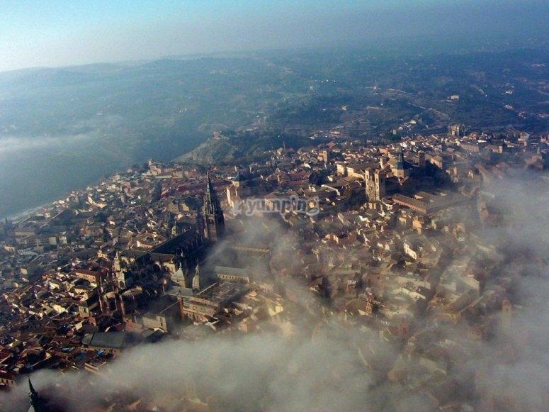 Toledo in the mist