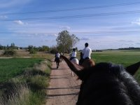 Beginning the route riding with friends