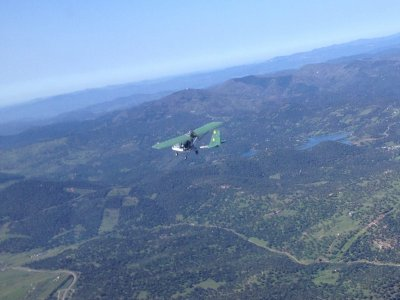 20 min ultralight flight in Extremadura