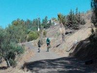 穿过Viñuela的自行车路线