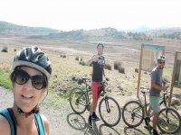 与朋友穿越洛斯罗曼斯的自行车路线